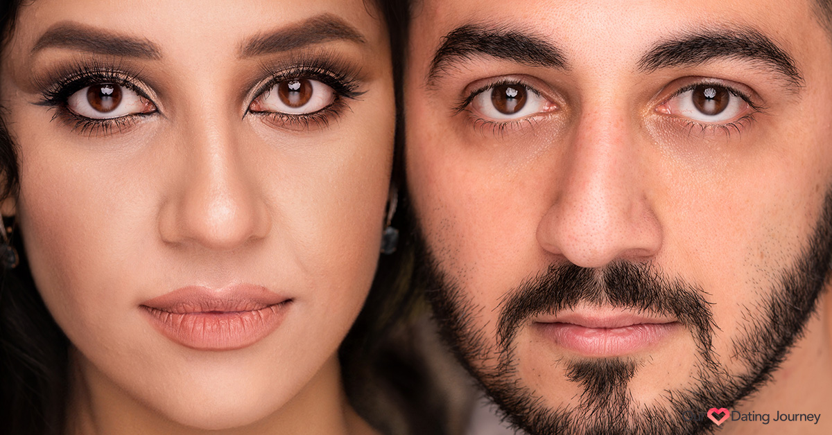 Close up of a Muslim woman and man