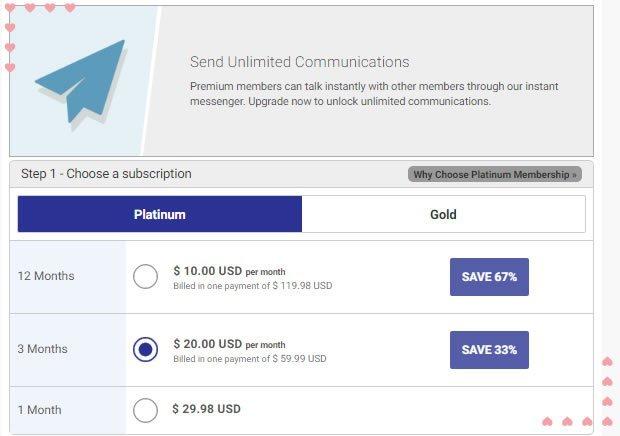 BBWCupid review Platinum Membership