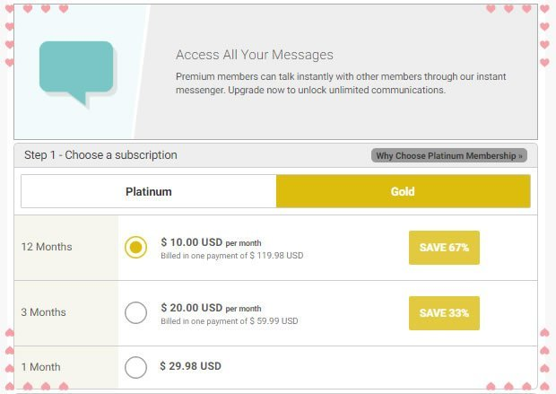 Gold Membership Option