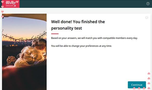SilverSingles Personality Test