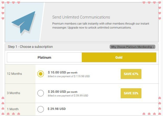 The Gold Membership Plan
