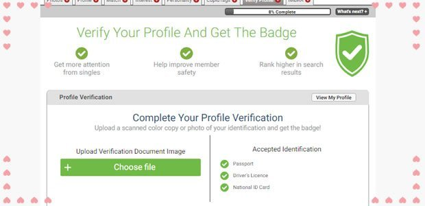 verify your profile