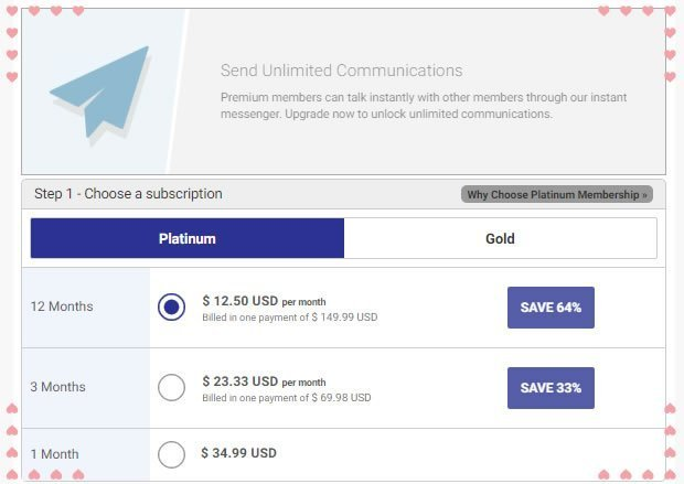 pricing of the platinum membership