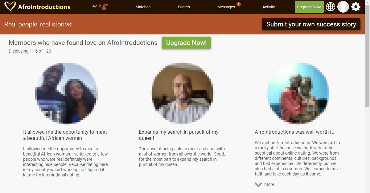 AfroIntroductions testimonials