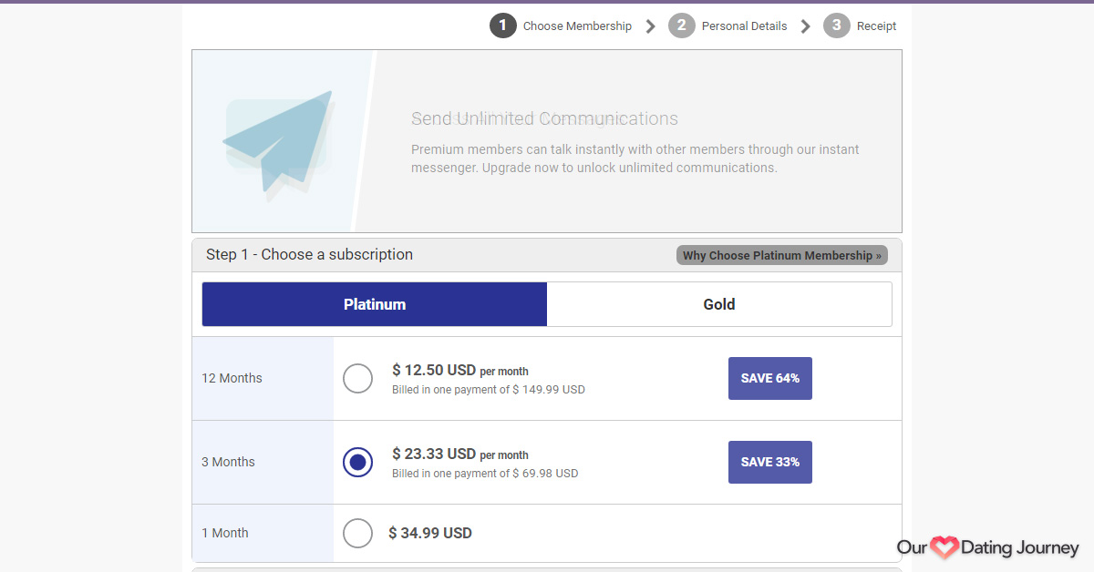 AsianDating Platinum Membership
