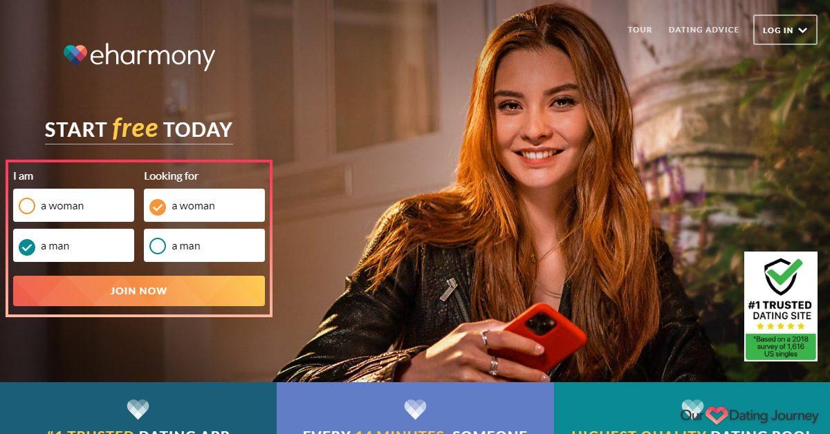 eharmony signup home page