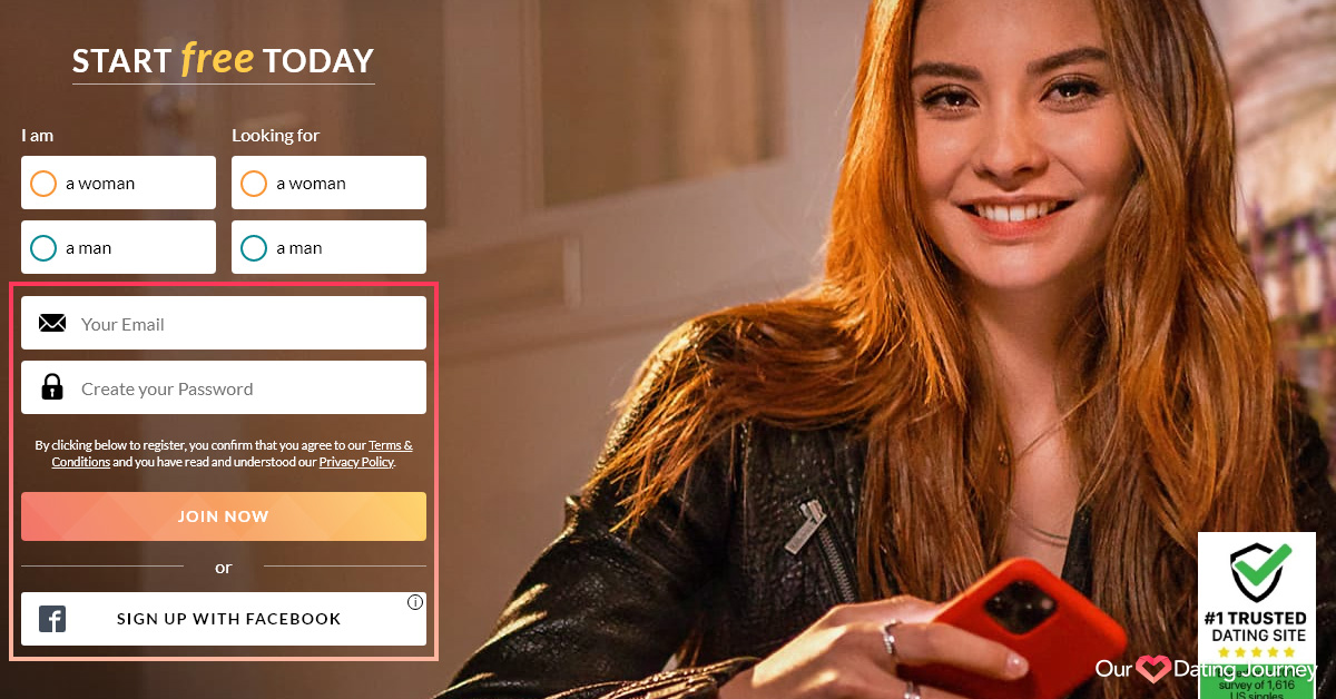 eharmony signup with email and password