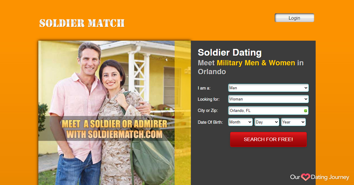 Soldier Match's dating website