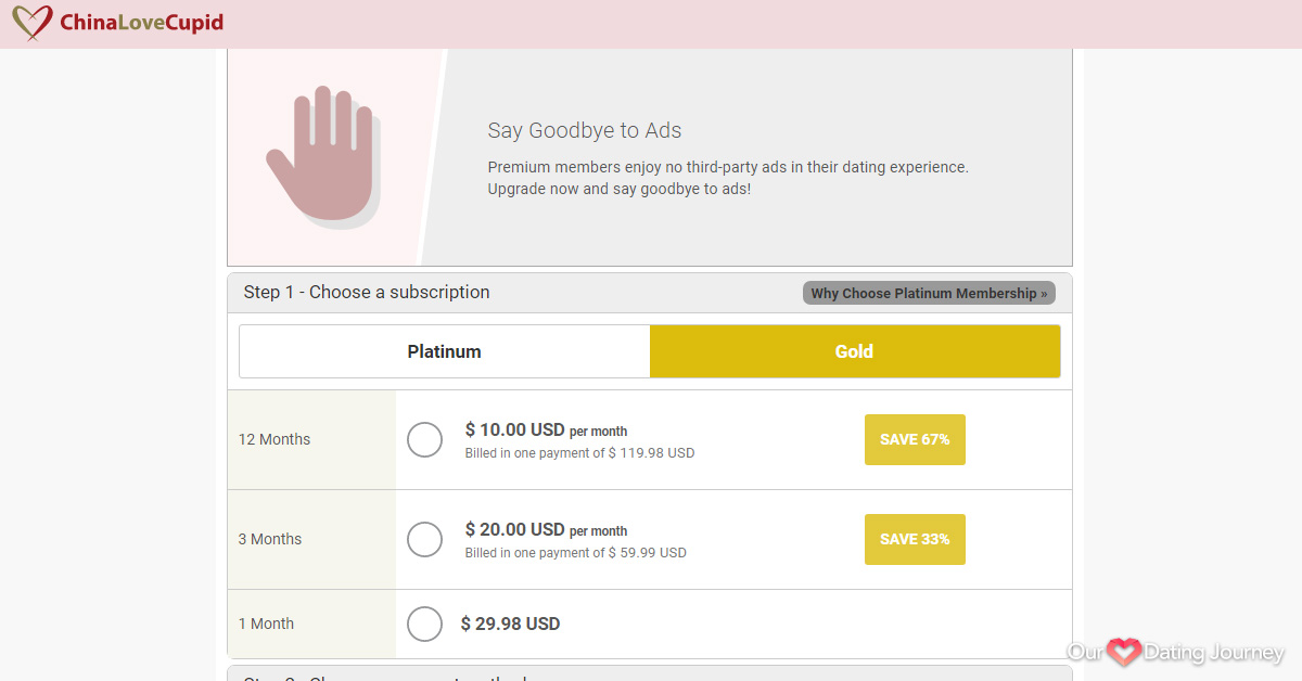 ChinaLoveCupid Gold Membership