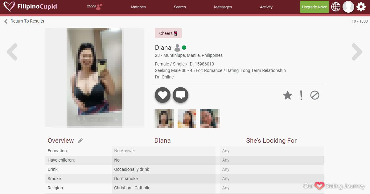 FilipinoCupid Female Member Profile