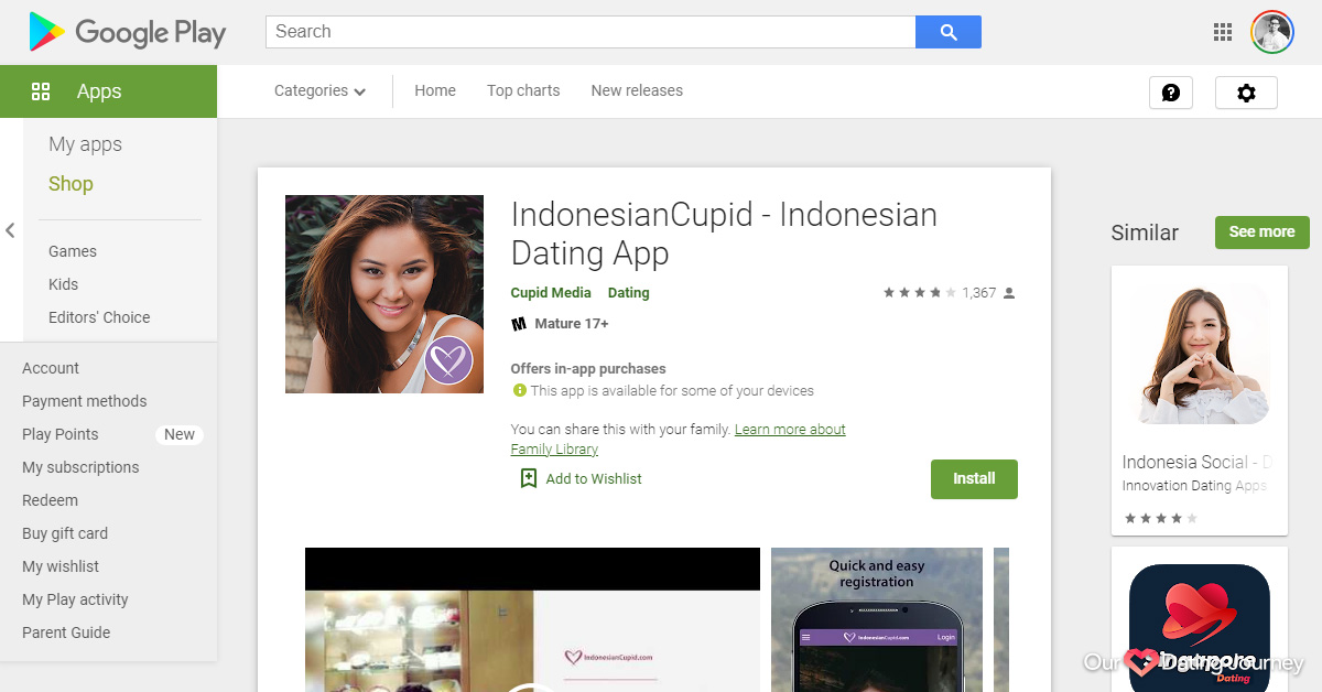 Indonesian Cupid Dating App