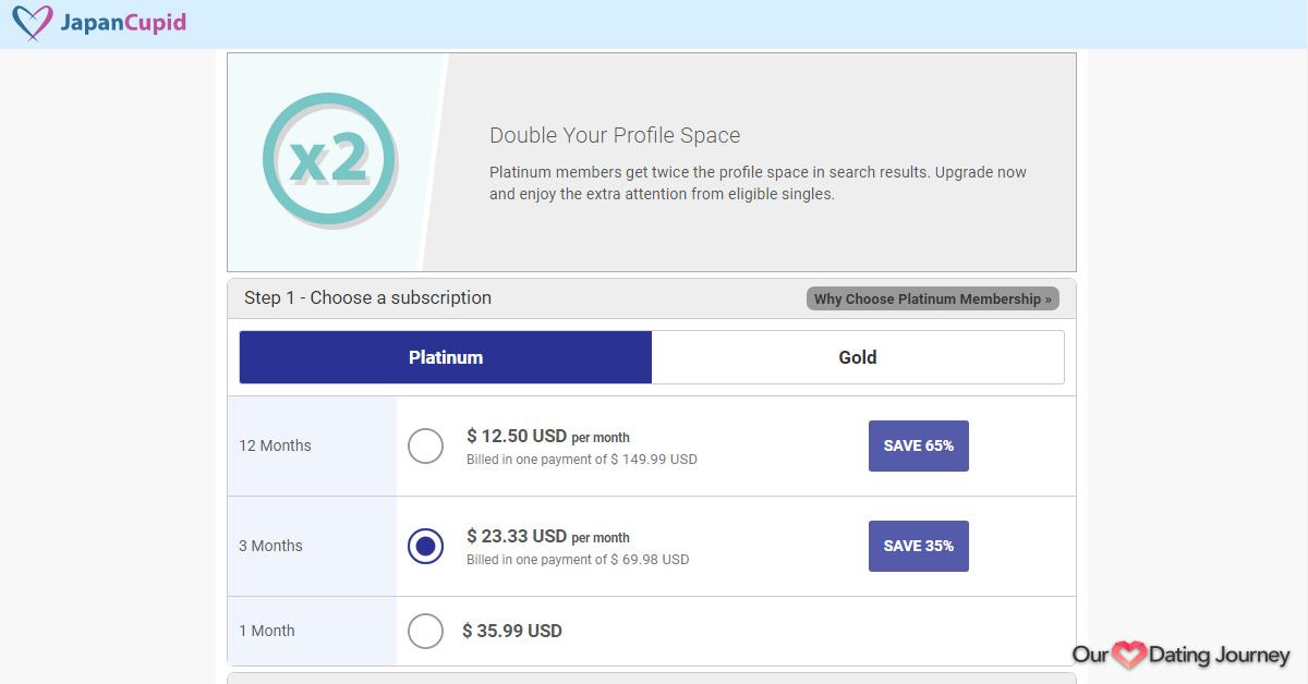 JapanCupid Platinum Membership