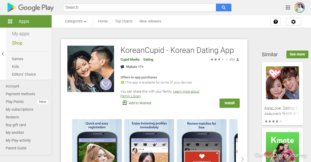KoreanCupid App on Google Play Store