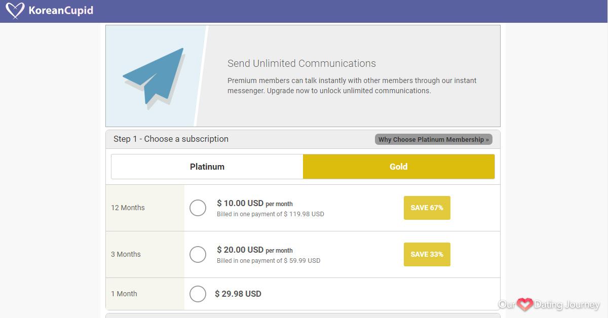KoreanCupid Gold Membership