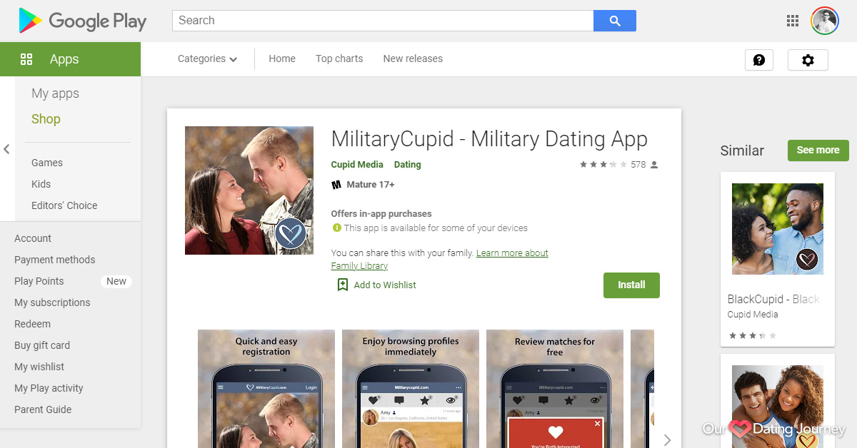 MilitaryCupid Dating App