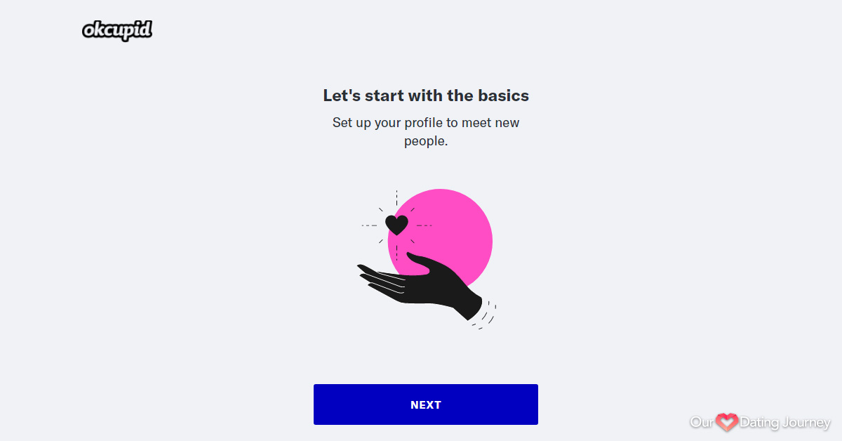 OkCupid Profile Setup Step 1