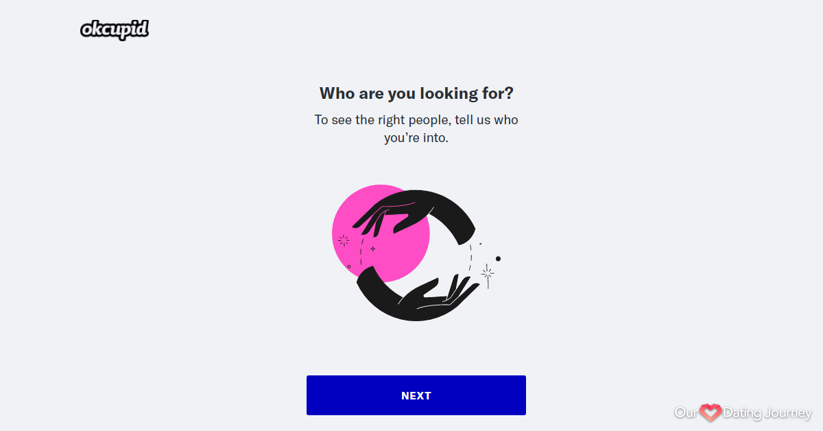 OkCupid Questionaire Step 1