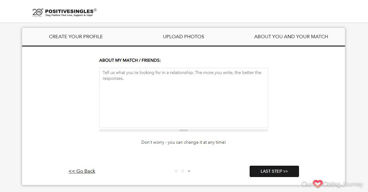 Positive Singles Registration About My Match
