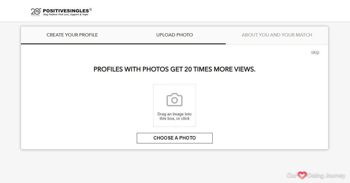Positive Singles Registration Upload Photo