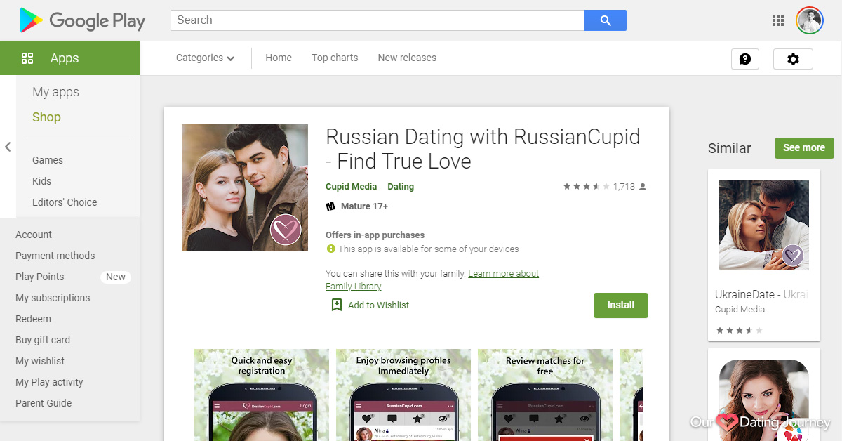 RussianCupid App on Google Play Store