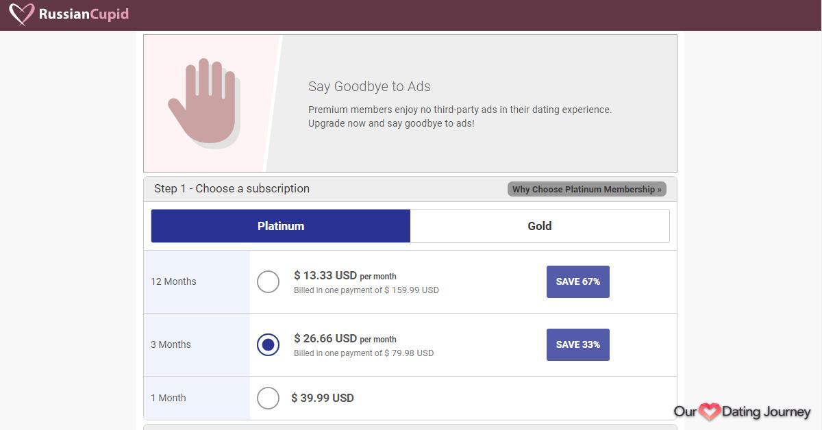 RussianCupid Platinum Membership