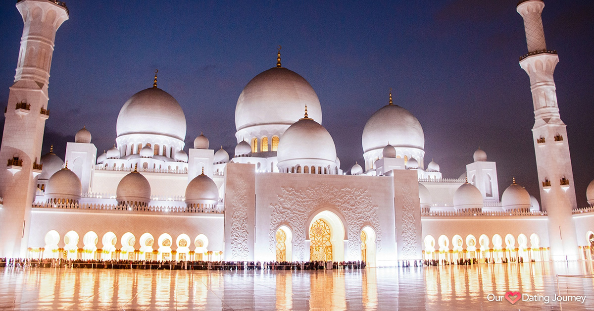The Sheikh Zayed Grand Mosque is located in Abu Dhabi, UAE