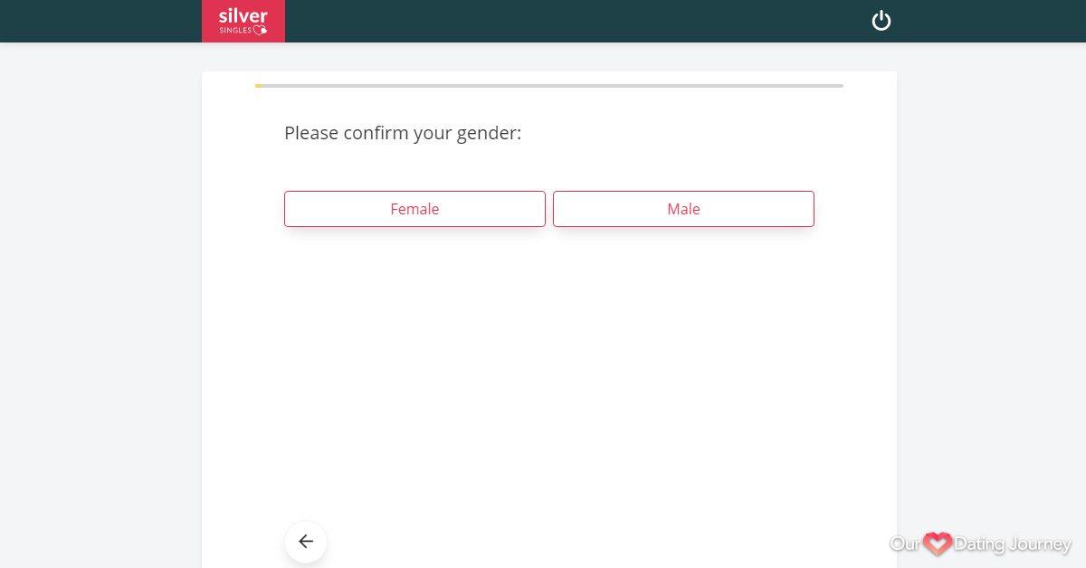 SilverSingles Setup Confirm Gender