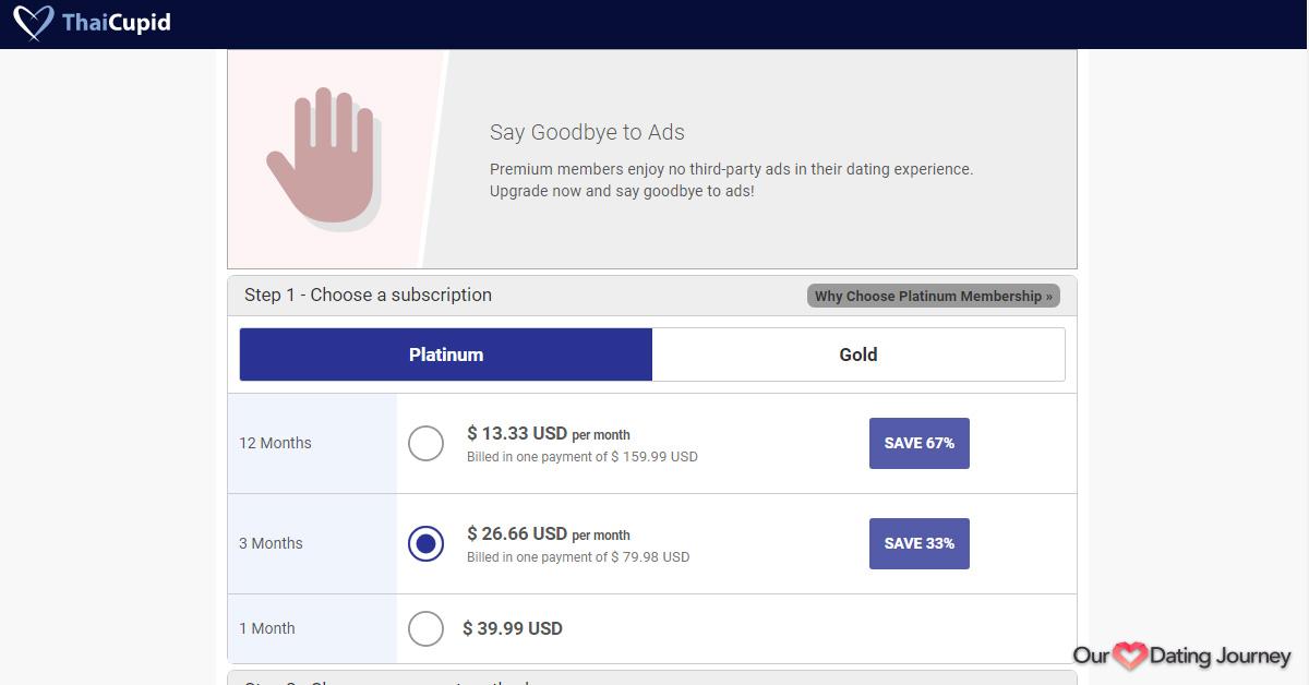 ThaiCupid Platinum Membership