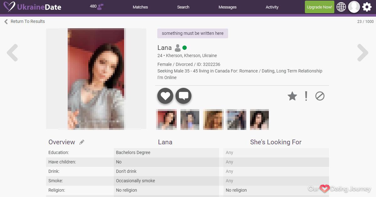 Ukraine Date Female Member Profile