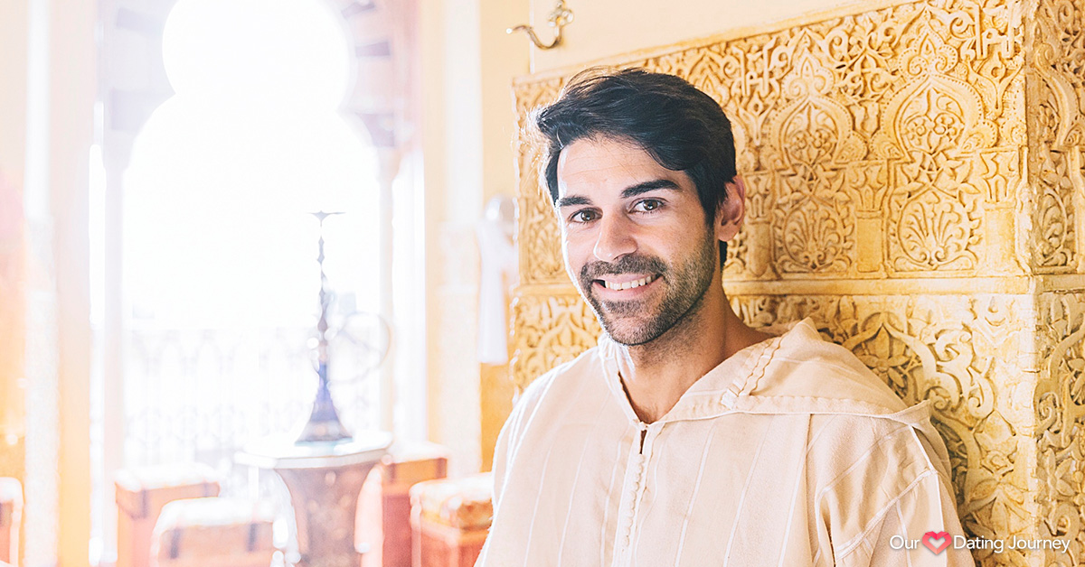 Portrait of a smiling Muslim man