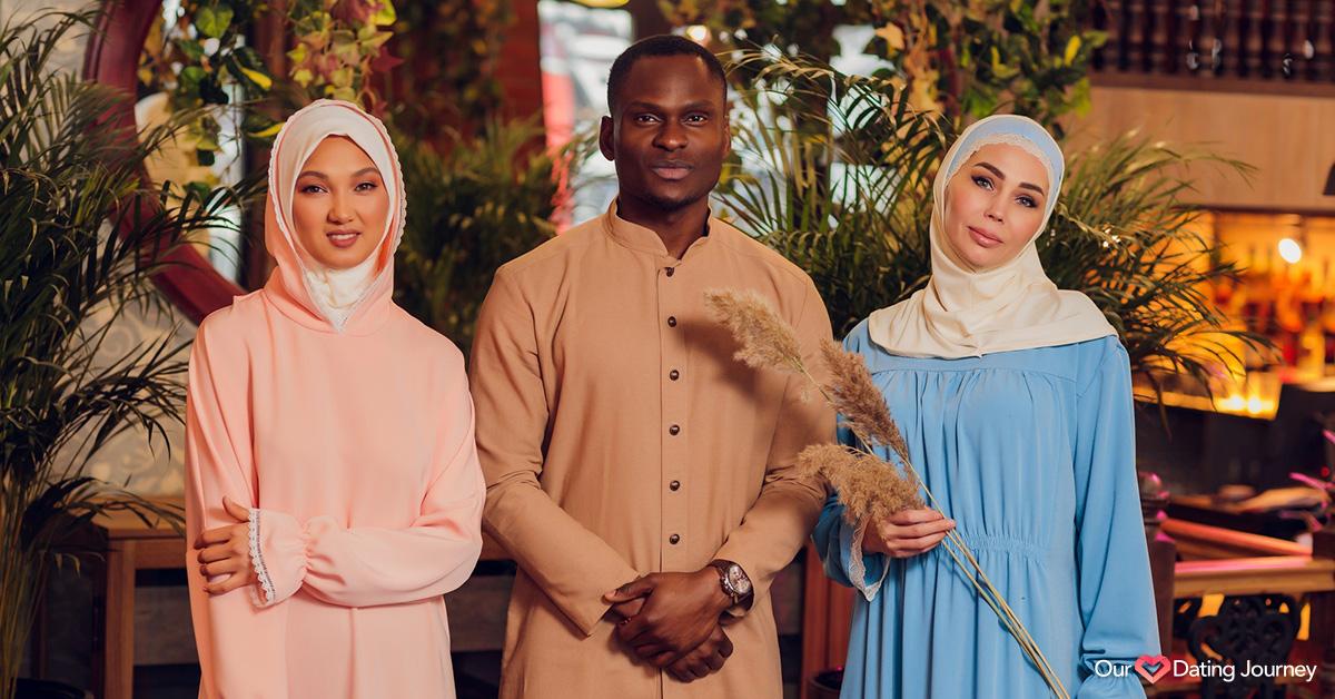 Three muslim people