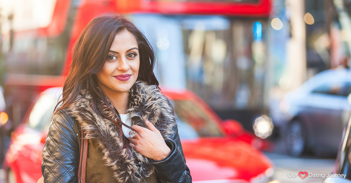 Indian woman portrait in Lndon