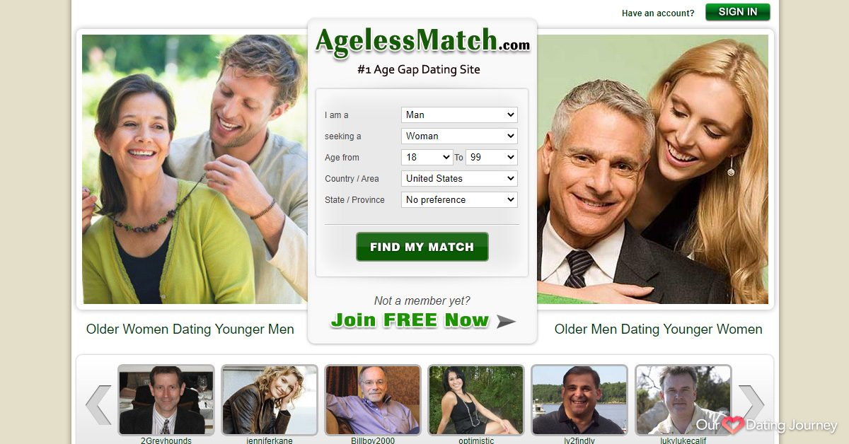AgelessMatch website