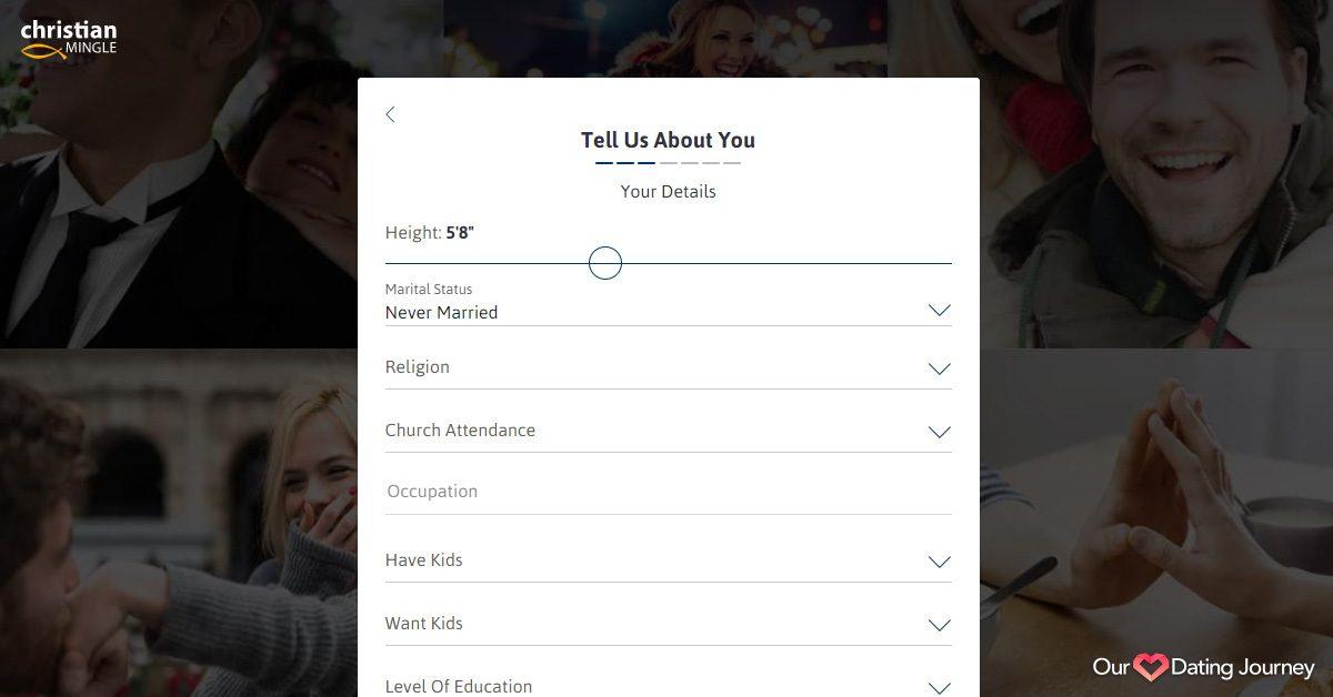 christian mingle profile creation basic info