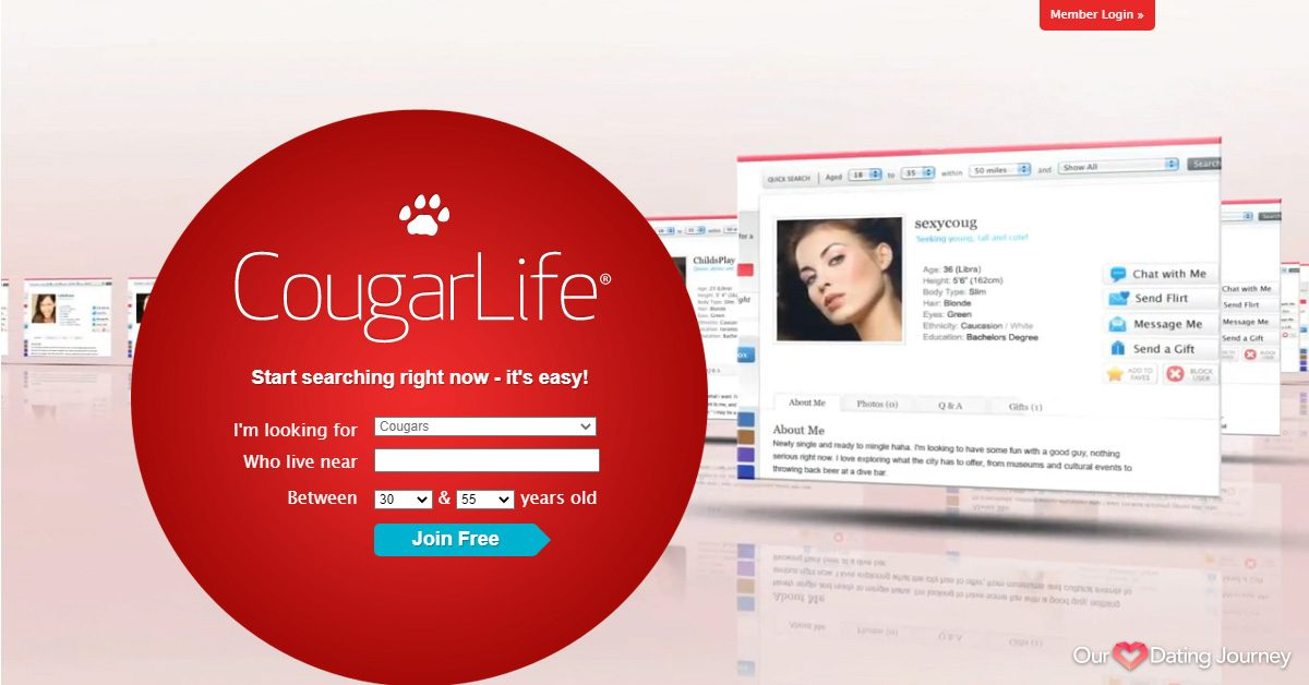 cougar life dating site