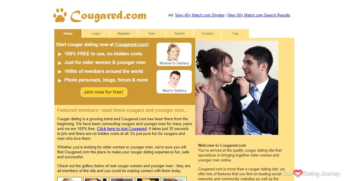 cougared dating website