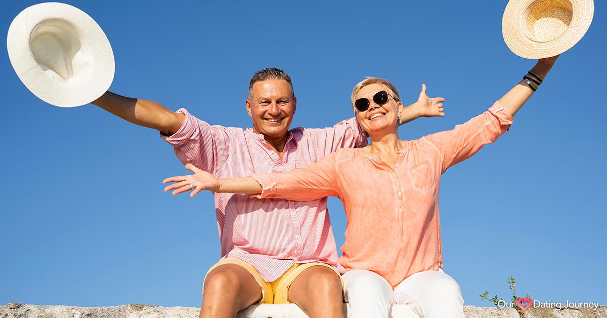 Happy senior couple enjoying the day