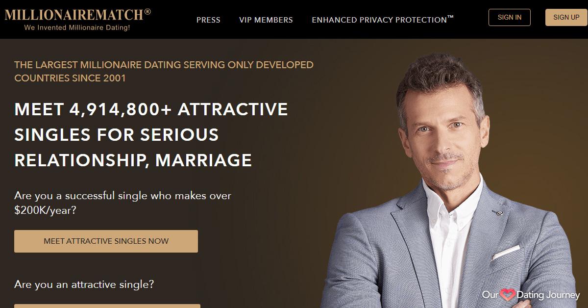 MillionaireMatch website
